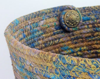 Gold Showstopper Coiled Fabric Basket