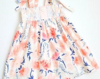 Girls Floral Dress, Summer Dress, Toddler Sun Dress, Baby Girls Dress, Spring Dress, Toddler Girls Dresses, Boutique Dress, Flower Girl
