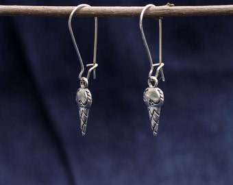 Earrings with silver ice