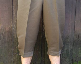 Vintage 1990's Italian Military Alpine Climbing Knickers / Pants / Wool blend / Cropped / Available in 2 sizes