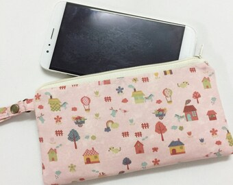 PHONE POUCH, cell phone purse, cell phone pouch, Pencil Pouch, Zipper Pouch, Zip up case,  pencil holder, iphone pouch, iphone purse