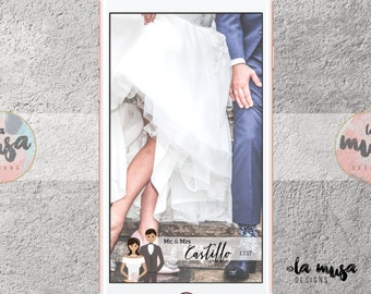 SNAPCHAT WEDDING GEOFILTER {Bride} {Groom} {Couple} {Filter} {Digital}