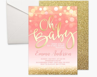 baby shower invitation girl  etsy, Baby shower invitations