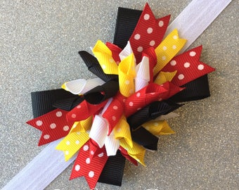 Minnie Mouse Headband | Minnie Mouse Baby Headband | Disney Baby Headband | Minnie Mouse Bow | Minnie Mouse Birthday Party | Disney Bows
