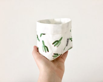 Cactus Fabric Basket - Small Size
