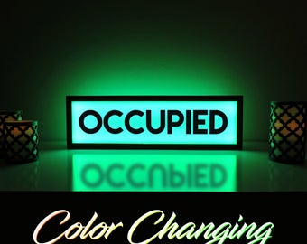 Occupied Sign, Occupied, Bathroom Sign, Vacant Sign, Light Up Sign, No Vacancy Sign, Do Not Disturb, Illuminated Art, Ambient Light