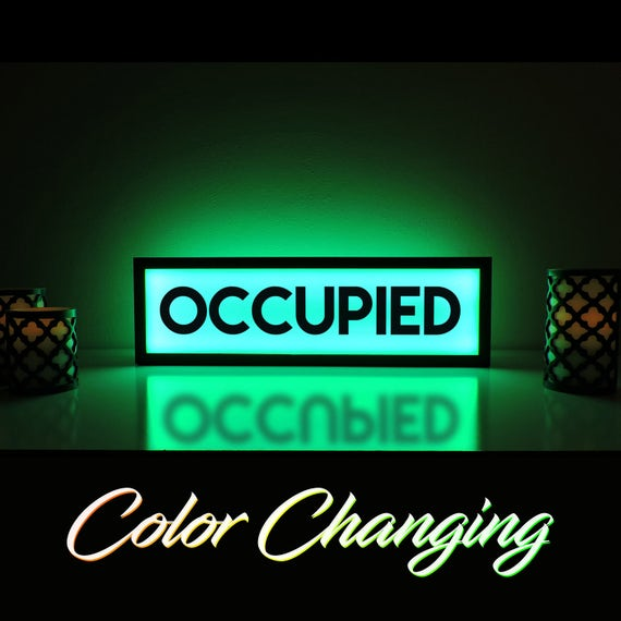 Occupied sign occupied bathroom sign vacant sign light up for Occupied bathroom sign