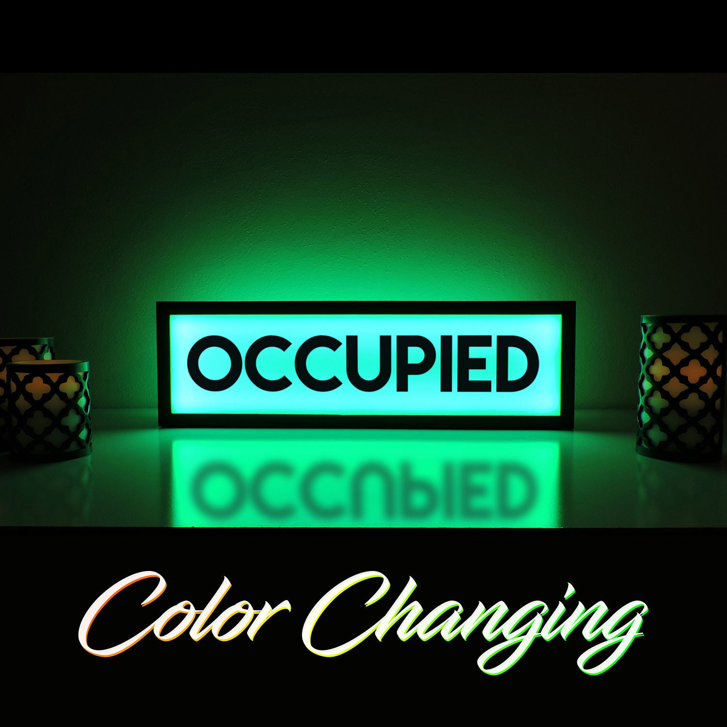 Occupied Sign Occupied Bathroom Sign Vacant Sign Light Up