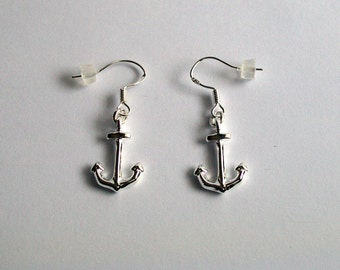 Silver Anchors Earrings ~ Anchor Jewellery ~ Silver Anchor Charm ~ Anchor Earrings ~ Nautical Jewelry Gift