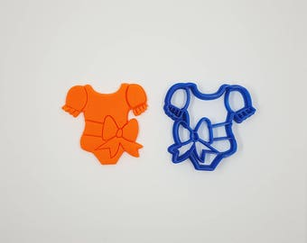 Romper Girl Cookie Cutter - 3D Printed - Bakery Cookie Cutter - Baby Cookie Cutter - Custom Cookie - Clay Cutter - Fondant Cutter- FunOrders