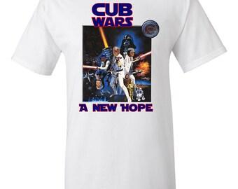 "Chicago Cubs ""Cub Wars A New Hope"" Shirt, Cub Wars T-Shirt"
