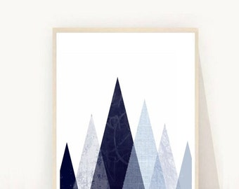 Printable Art, Geometric Art Print, Triangle Wall Print, Abstract Art Print, Modern Wall Art, Minimalist Wall Art, Digital download