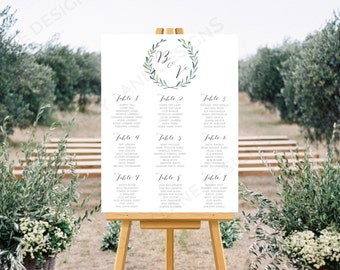 Personalised Printable, Wedding Seating Chart, Wedding Table Plan - Josie Collection - WC71