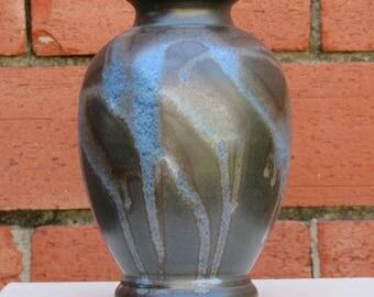 Matte black urn