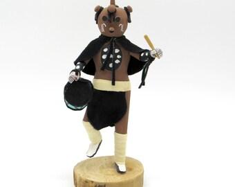 Kachina, Kachina Doll, Native American, Native American Doll, Mud Head, Mudhead, Dolls and Miniatures, Native American Decor, Shelf Decor