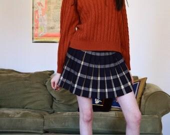 vintage orange cable-knit sweater