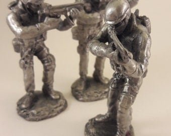 "3.5"" Combat Soldier Pewter"