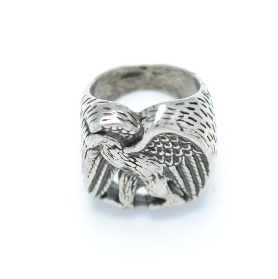 Eagle ring - biker ring - rock ring - vintage ring
