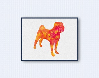 Chinese Shar-Pei Watercolor Poster