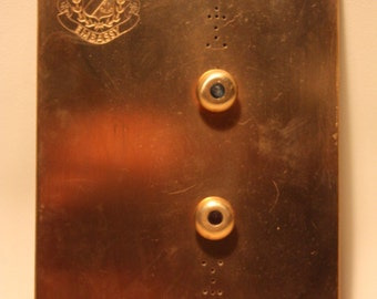 Vintage Elevator Lobby Push Buttons