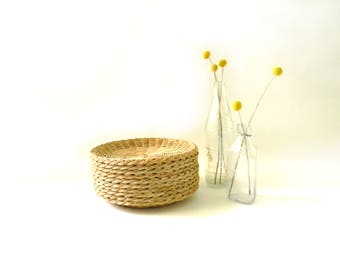 Wicker Picnic Paper Plate Holders/ Set of 10