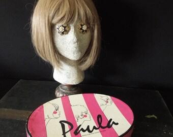 Women's Wig in Original Box - Paula Brown Bob Shag - Ladies Wig - Costume Prop Display Hair Stylist - Paula Wig in Med Blond Beige Vintage