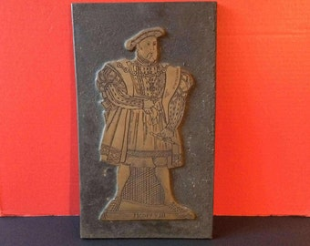 Brass rubbing plate of Henry VIII