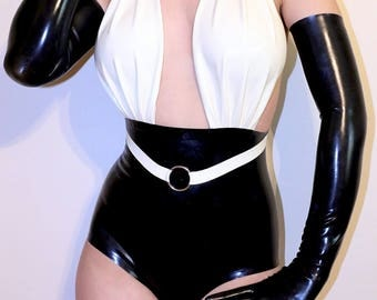 Latex classic highwaist bodysuit