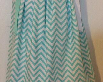 Mint Green Chevron Pillowcase Dress Size 3T