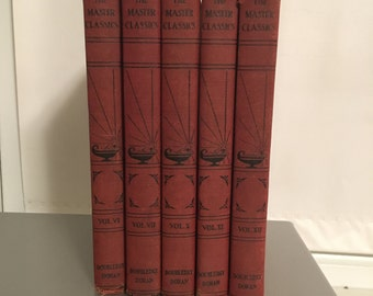 Set of Five Vintage 1930's Master Classics Books