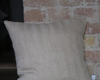 pillow from antique linen: stripes 45*45cm