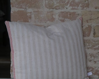pillow from antique linen: redstripes 45*40cm