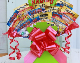 Haribo Sweet Bouquet Gift, Sweetie Gift,  Sweet Hamper, Candy Gift, Gift you can eat, Box of Candy, Perfect Gift, Selection Box of Sweets