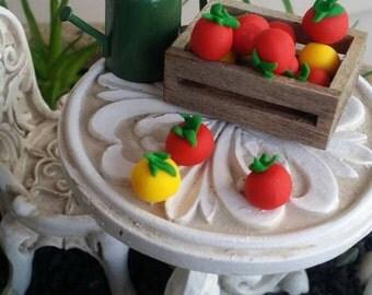 Fairy garden tomatoes, miniature produce, fairy garden Farm, dollhouse vegetables, fairy tomatoes, dollhouse tomatoes, fairy produce, 5