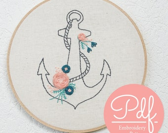 Anchor - Embroidery pattern - PDF Digital Download