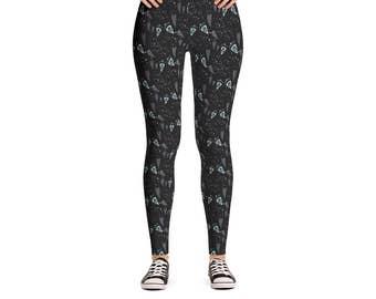 Diamonds & Hearts Leggings - Women's Active Wear Pants - Zen Yoga Pants - Sizes XS to XL - Polyester/Spandex - Gift Idea for Her