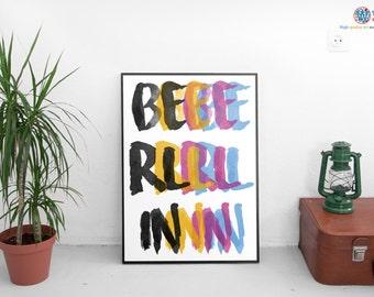 Berlin Poster - Striking CMYK Berlin City Art / Print