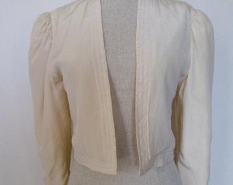 Vintage silk Bolero