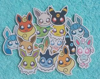 Eeveelutions Custom Sticker Set! - 6 Stickers