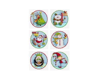 Christmas Characters - Set of 6 - Durene J Cross Stitch Patterns