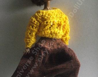 OOAK Hand Knitted Set for Dynamite Girls/Monsieur Z/ Fashion Royalty / Barbie dolls