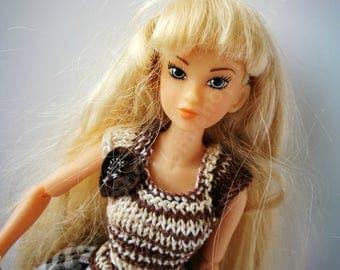 "OOAK handmade outfit "" Tiramisu"" for Momoko,  doll"