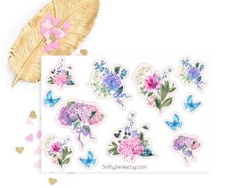 Flower sticker, life planner sticker for kikki k, filofax or erin condren, spring