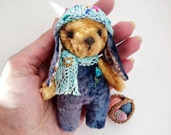 Plush Teddy bunny soft toy rabbit OOAK Pocket Rabbit Easter bunny