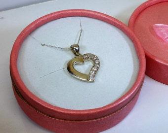 Followers Largo 925 Silver heart crystals SK433