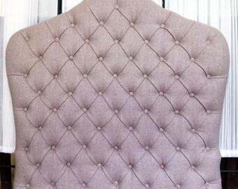 048 Single headboard upholstered in capitoné