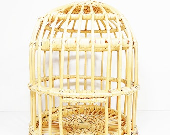 Large Vintage Wicker Bird Cage, Wicker Bird Cage, Large Bird Cage, Unique Bird Cage, Vintage Wicker, Shabby Chic, Large Wicker Cage