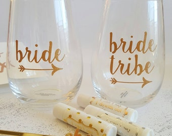 DIY Bridal Party Glass Decal sticker - Bride Tribe, Team Bride Hens Night decor