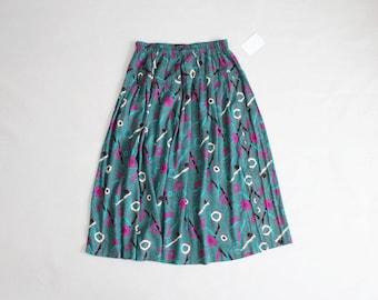 pop art skirt   teal skirt   abstract print skirt