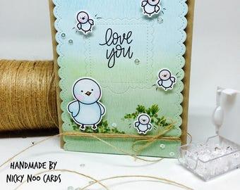 Handmade Love Card - Bird Theme